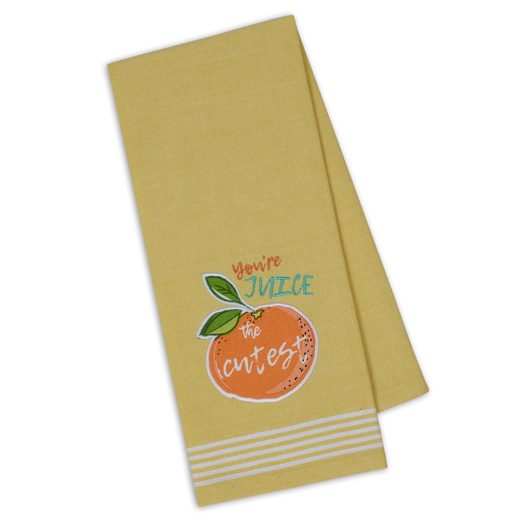 You're Juice the Cutest Embellished Dishtowel