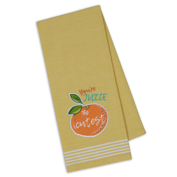 You're Juice the Cutest Embellished Dishtowel - DII Design Imports