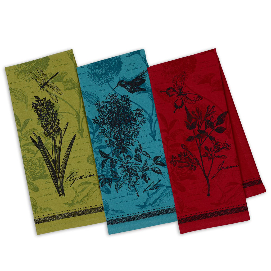 Wholesale Botanical Flowers Printed Dishtowels - DII Design Imports