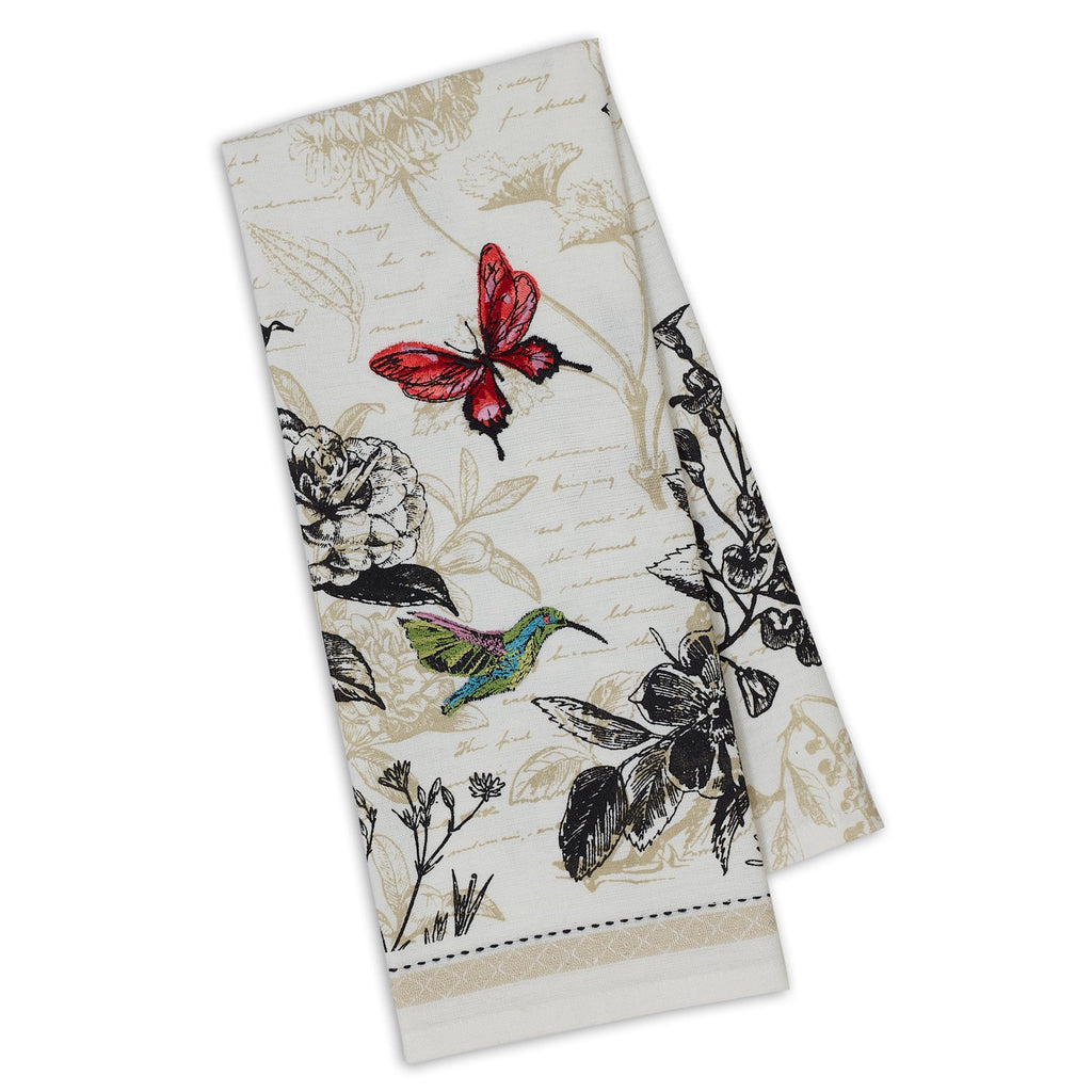 Botanical Embellished Dishtowel - DII Design Imports