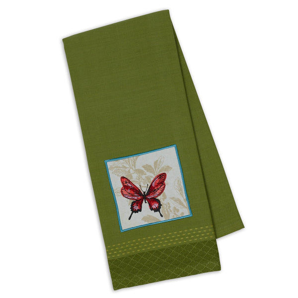 Butterfly Embellished Dishtowel - DII Design Imports
