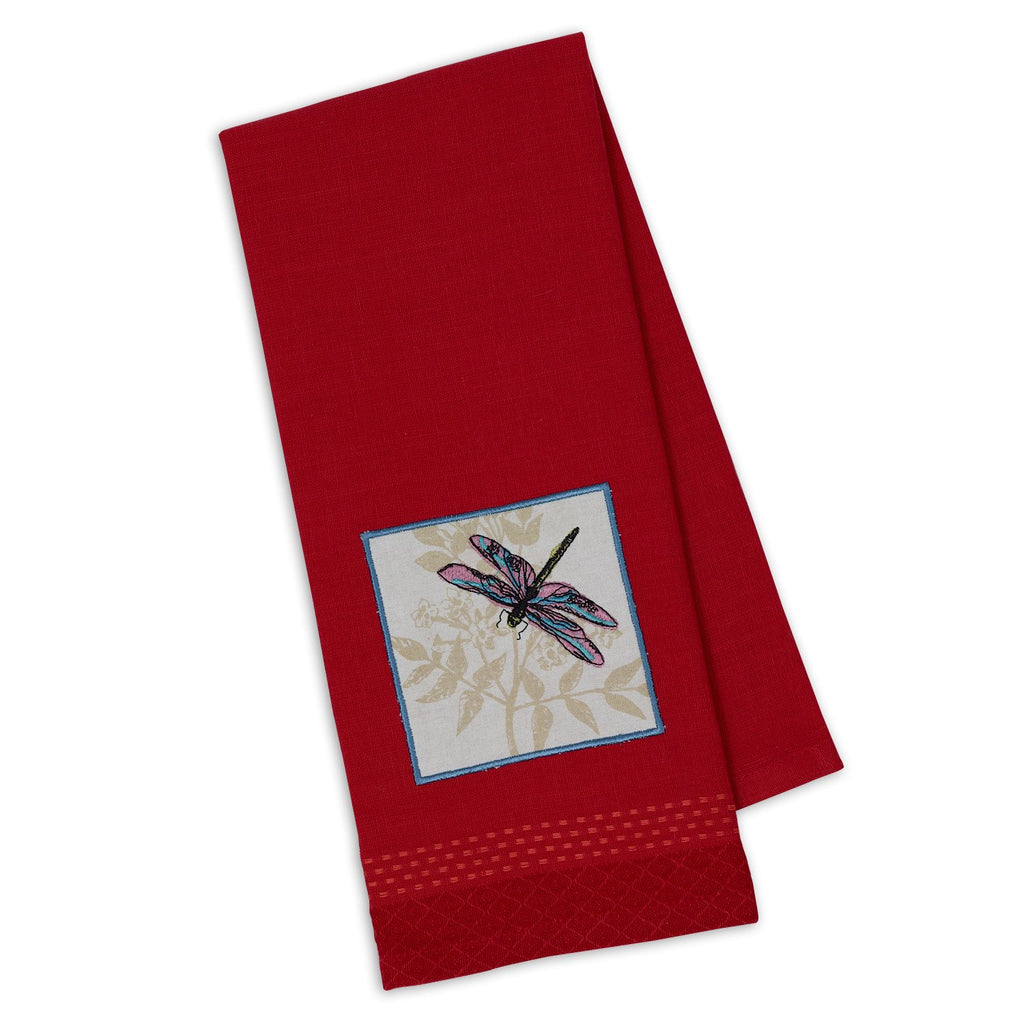Dragonfly Embellished Dishtowel - DII Design Imports