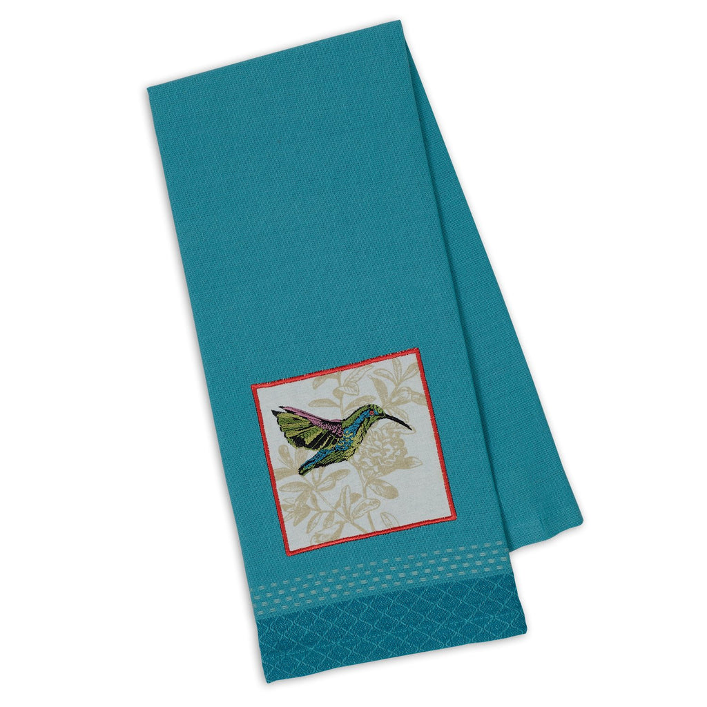 Hummingbird Embellished Dishtowel - DII Design Imports