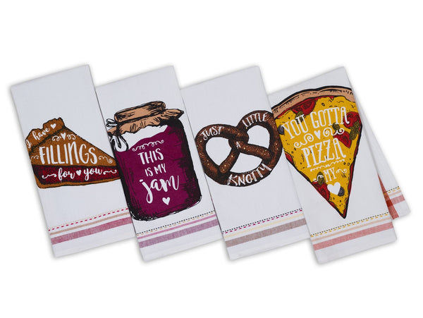Wholesale Foodie Fun Printed Dishtowels - DII Design Imports