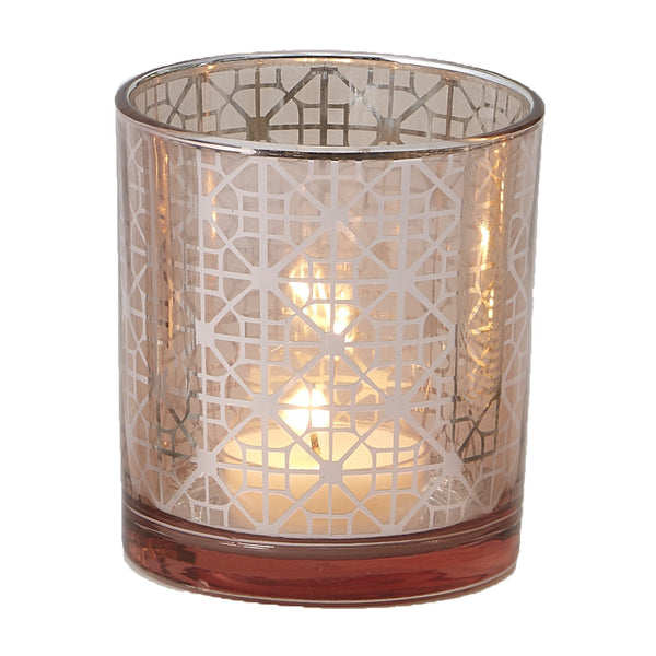 Rose Gold Cylinder Candle Holder - DII Design Imports