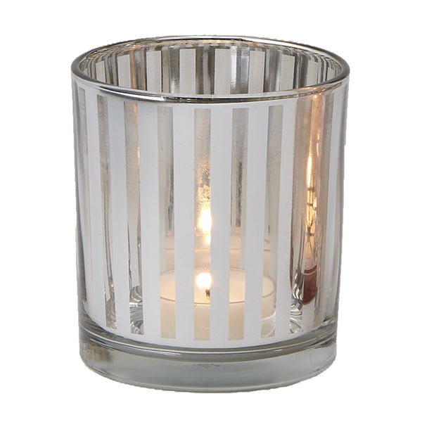 Silver Cylinder Candle Holder - DII Design Imports