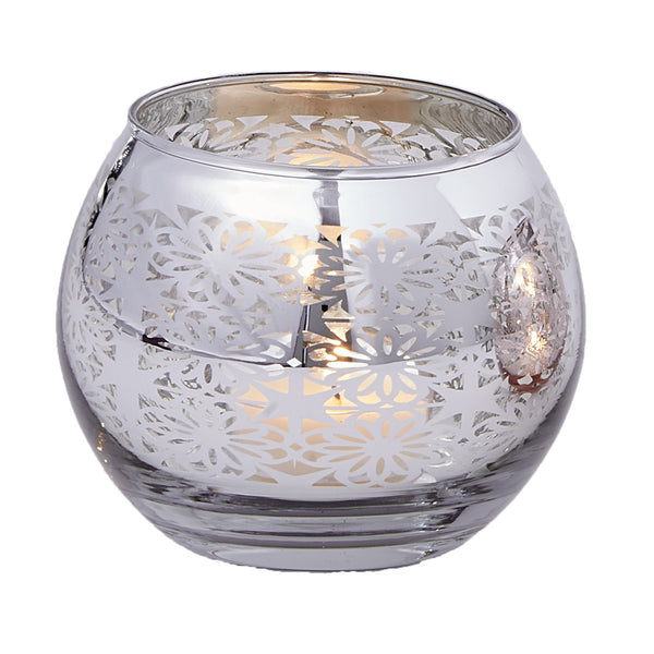 Silver Round Candle Holder - DII Design Imports
