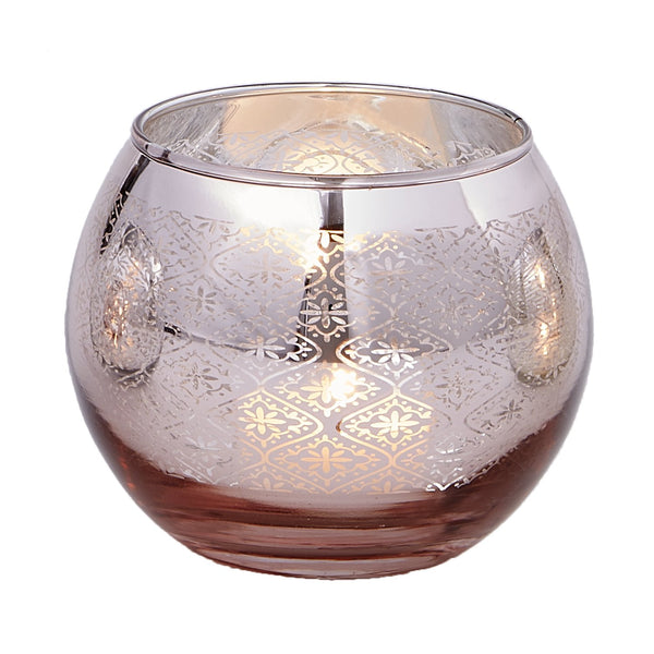 Rose Gold Round Candle Holder - DII Design Imports