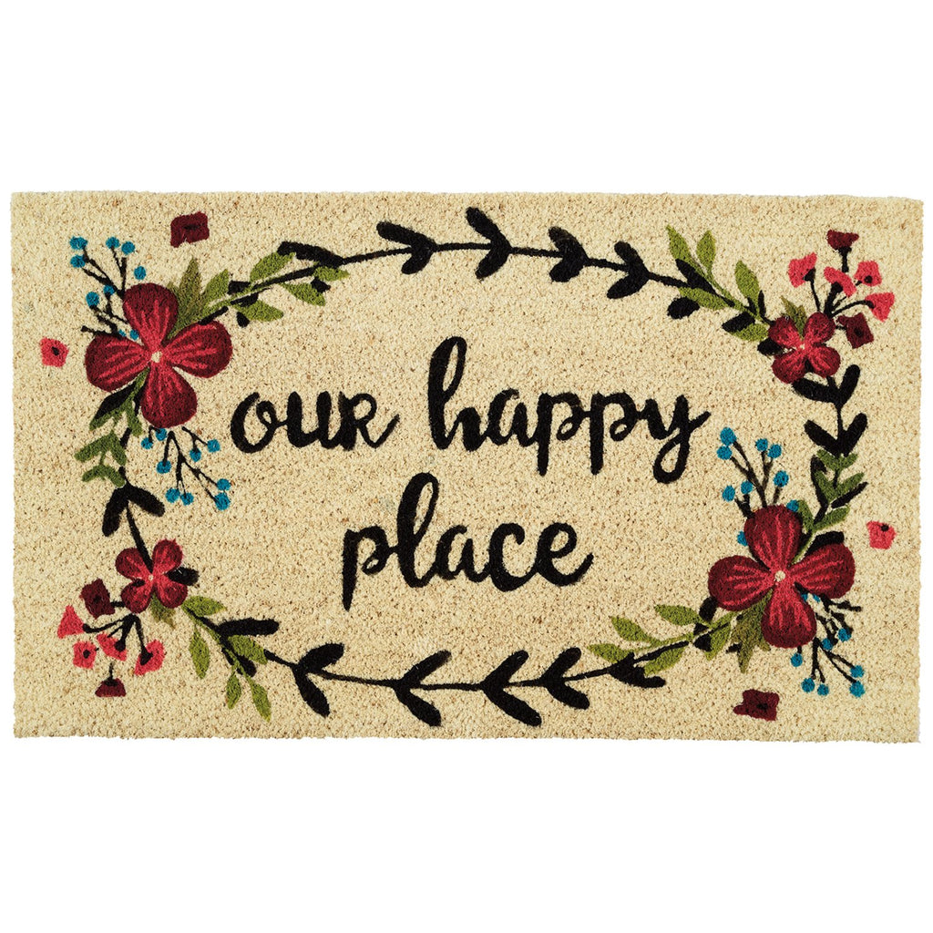 Our Happy Place Doormat - DII Design Imports