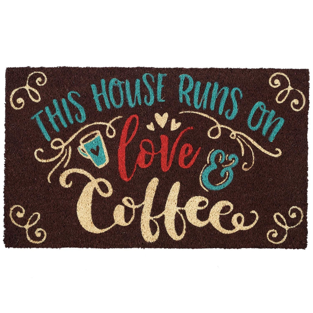 Wholesale Love & Coffee Doormat - DII Design Imports