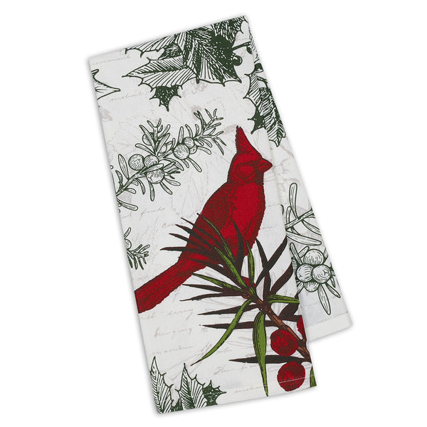 Holiday Botanical Printed Dishtowel