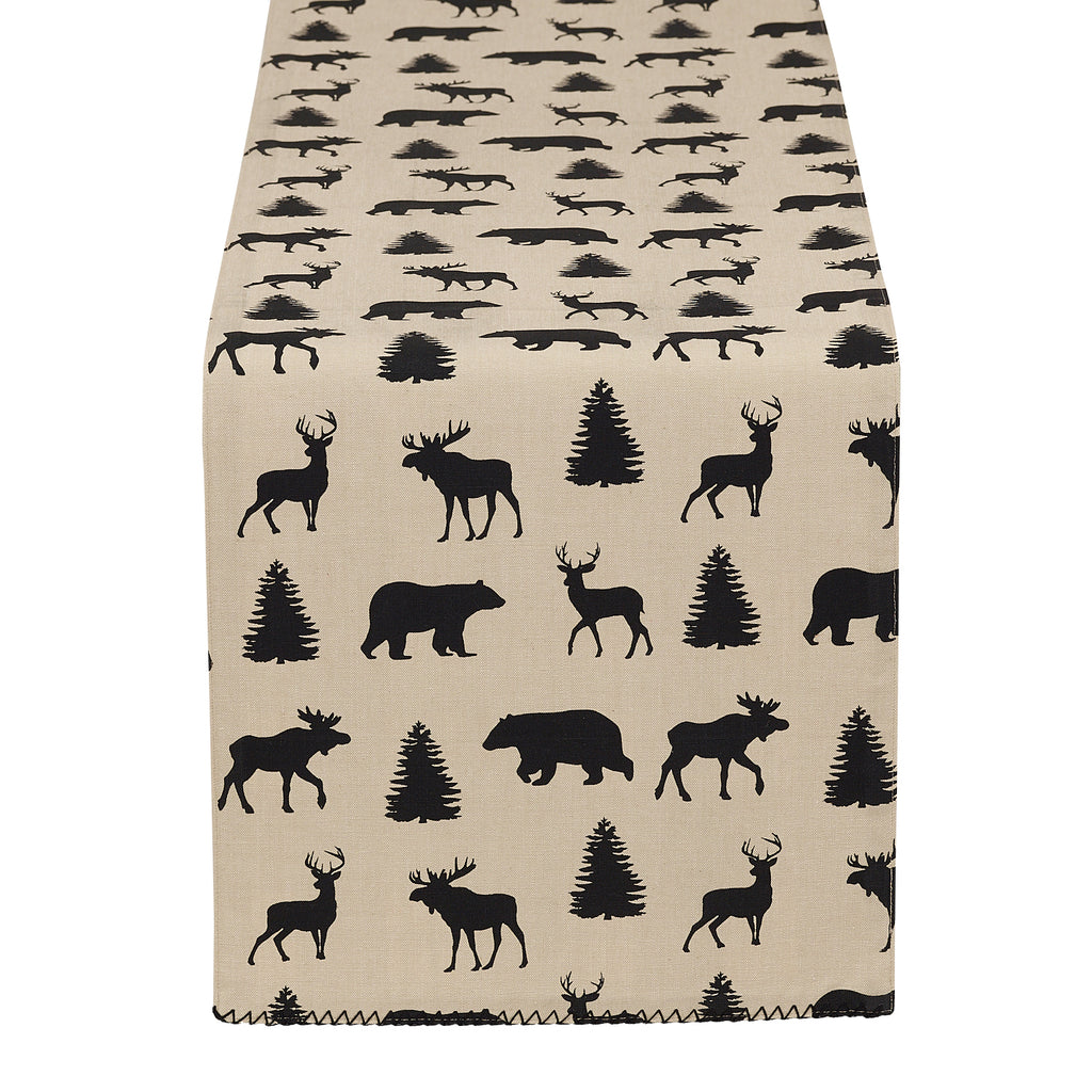 Mountain Trails Plaid Embellished Table Runner - DII Design Imports