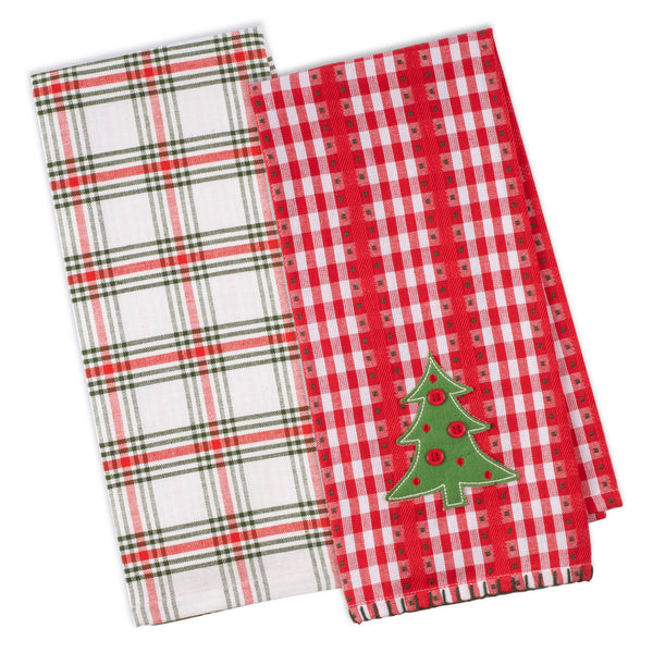Jolly Tree Dishtowel Set of 2