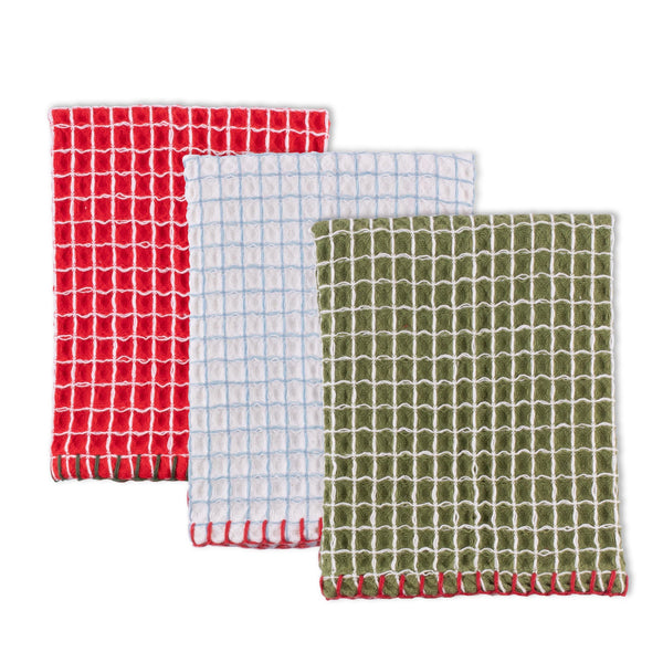 Christmas Cheer Dishcloth Set of 3