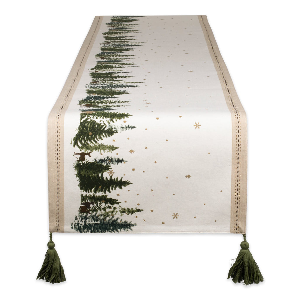 Winter Woodland Embellished Table Runner