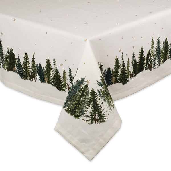 Winter Woodland Printed Tablecloth