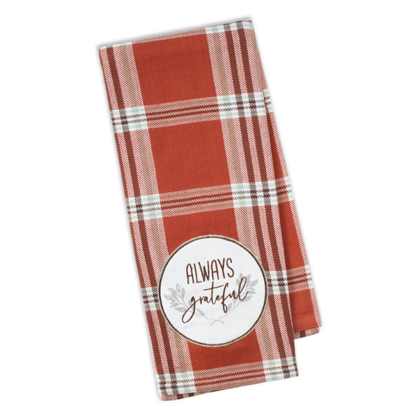 Always Grateful Embellished Dishtowel