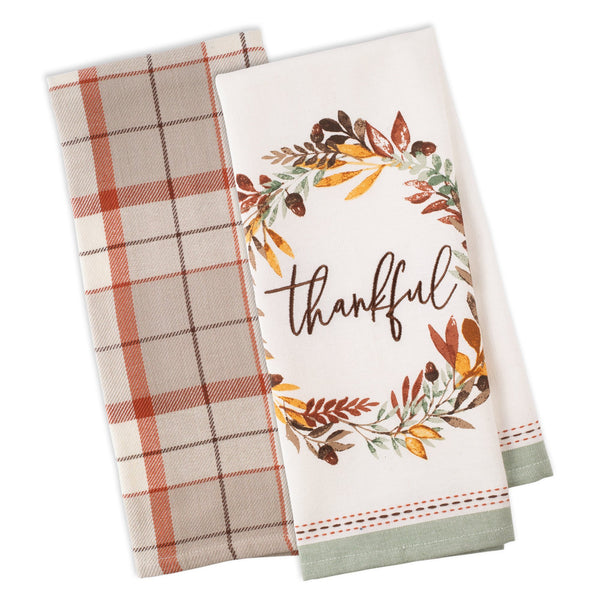 Thankful Autumn Dishtowel Set of 2