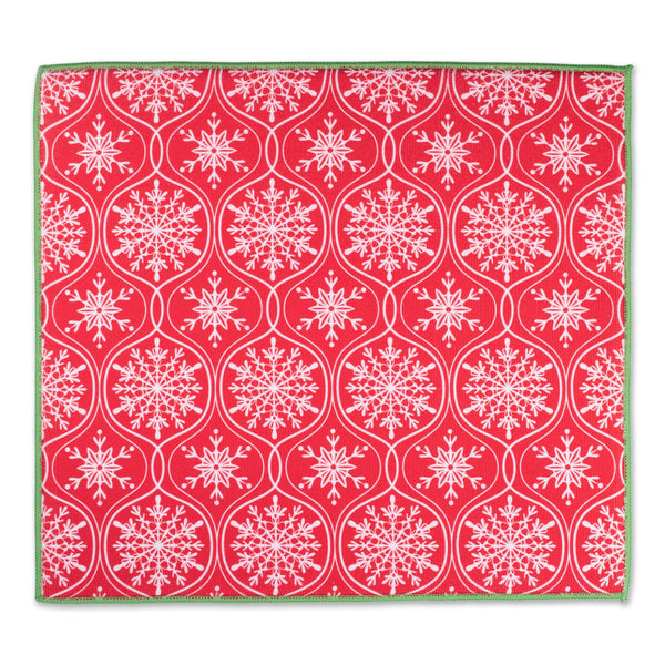 Joyful Snowflakes Dish Drying Mat