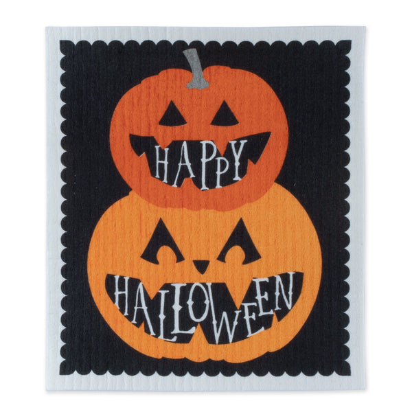 Happy Halloween Swedish Dishcloth