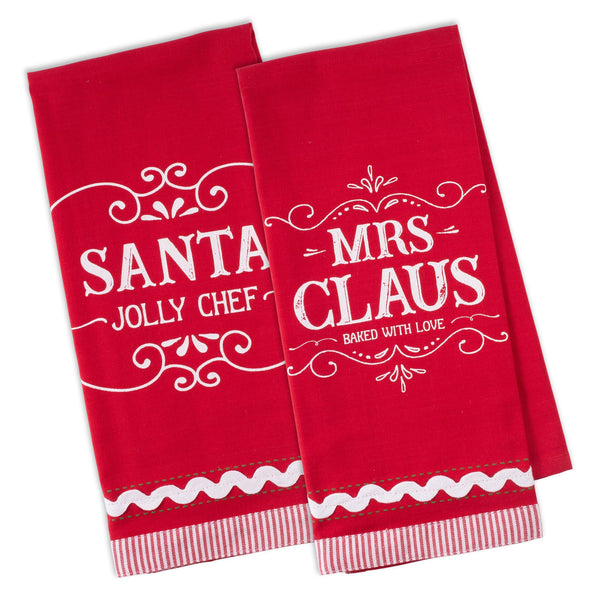 Mr & Mrs Claus Dishtowel Set of 2