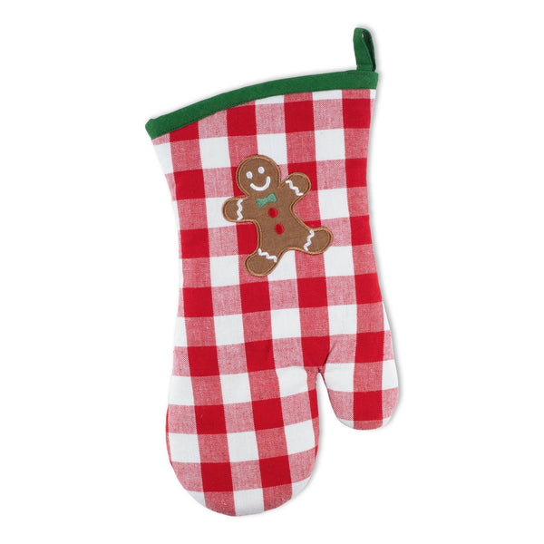 Warm Gingerbread Embellished Oven Mitt