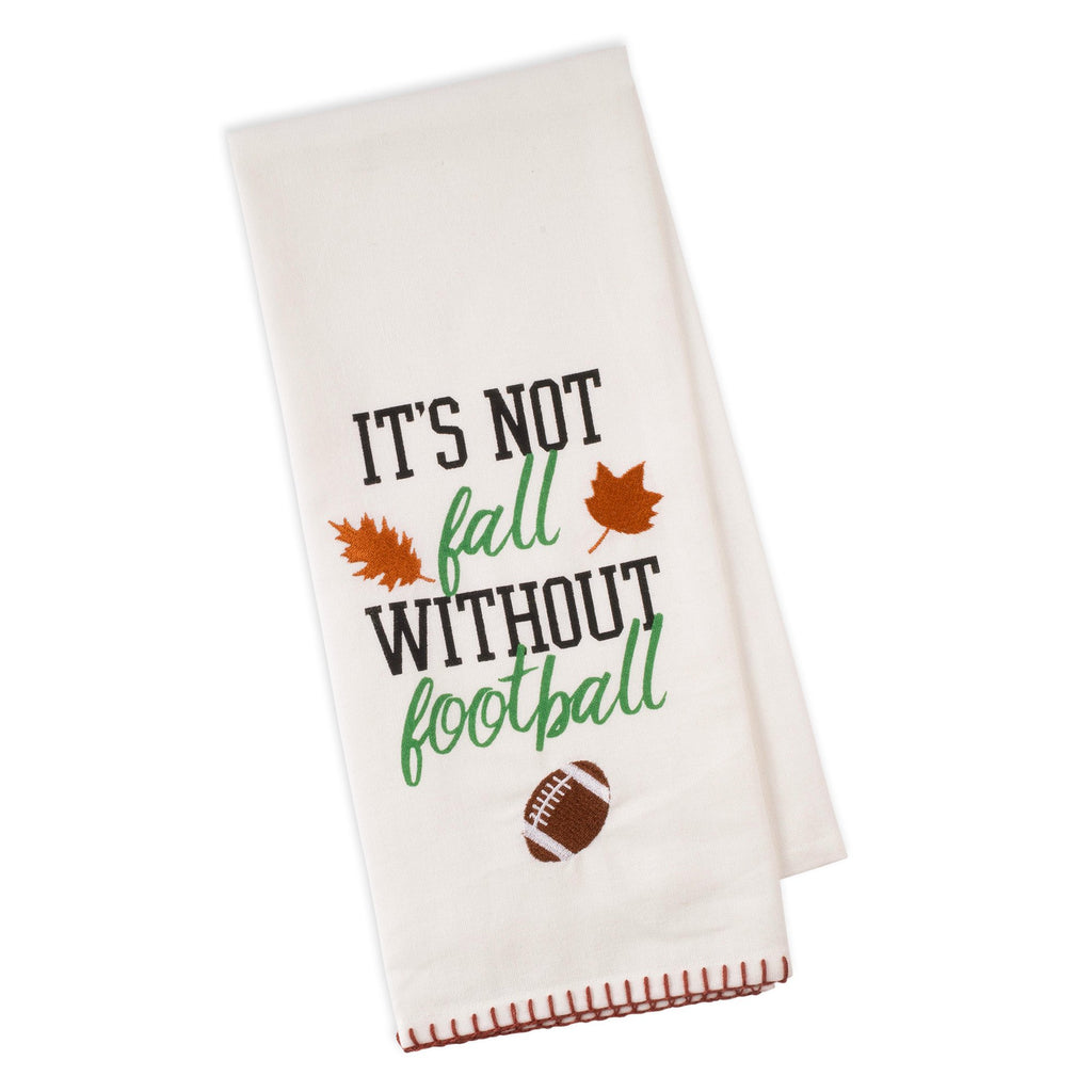 Fall Football Embellished Dishtowel