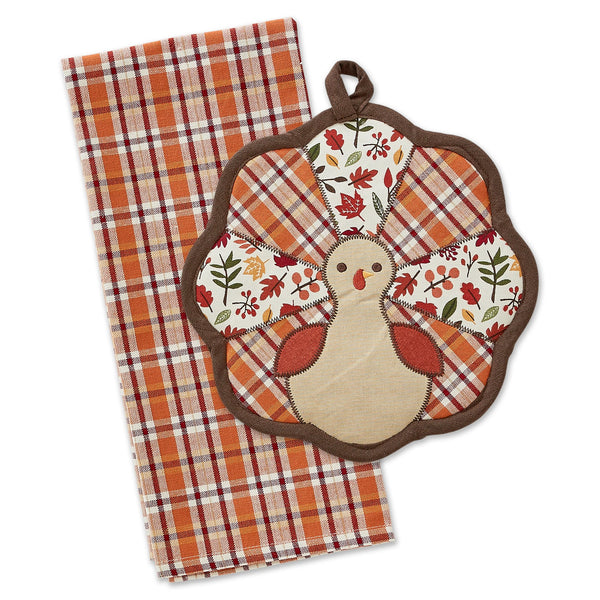 Gobble Turkey Potholder Gift Set
