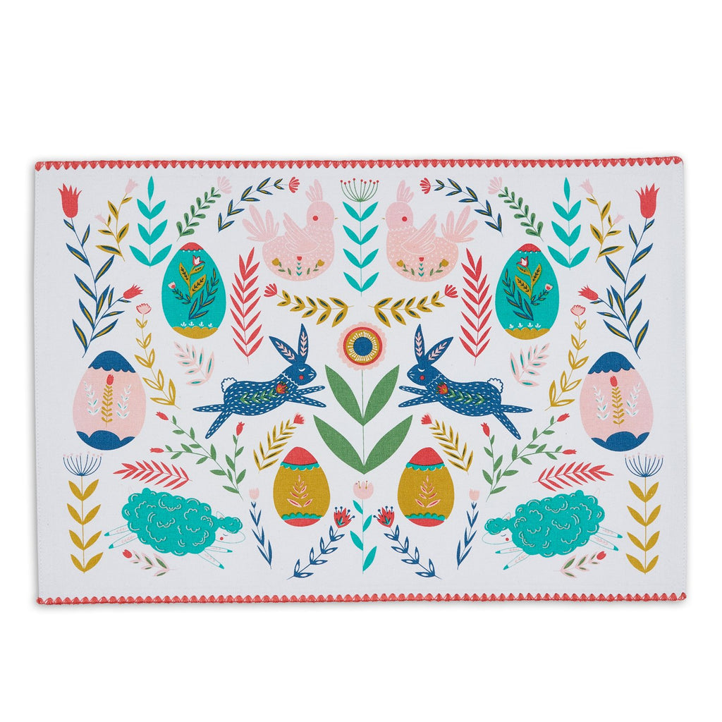 Easter Folk Garden Embelished Placemat - DII Design Imports