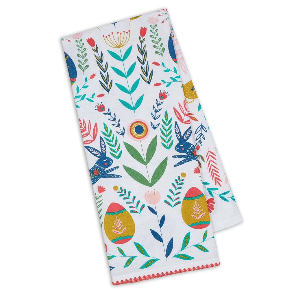 Wholesale Easter Folk Garden Printed Dishtowel - DII Design Imports