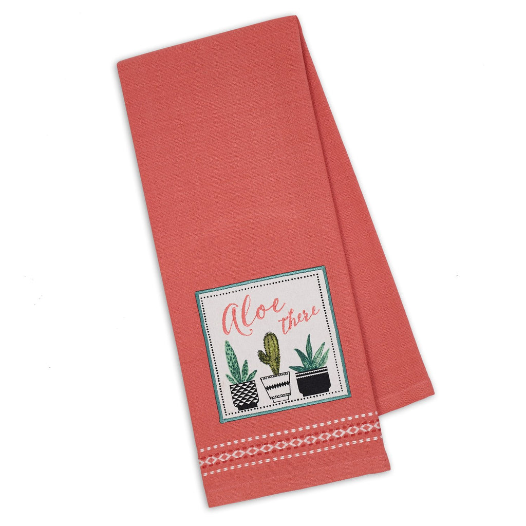 Wholesale Aloe There Embellished Dishtowel - DII Design Imports