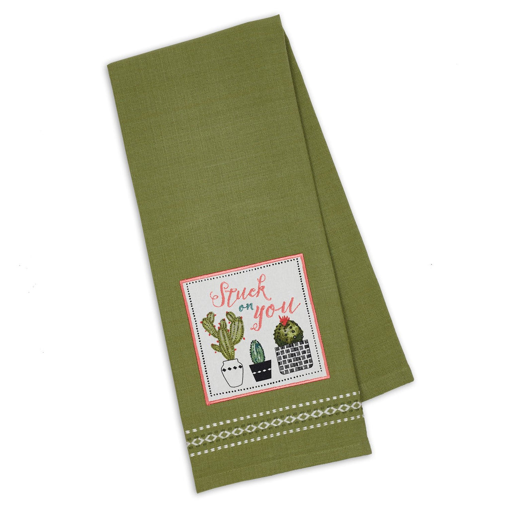 Stuck on You Embellished Dishtowel