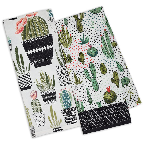 Urban Oasis Printed Dishtowels Mixed Dozen - DII Design Imports