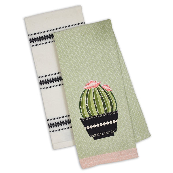 Cactus Dishtowel Set of 2 - DII Design Imports