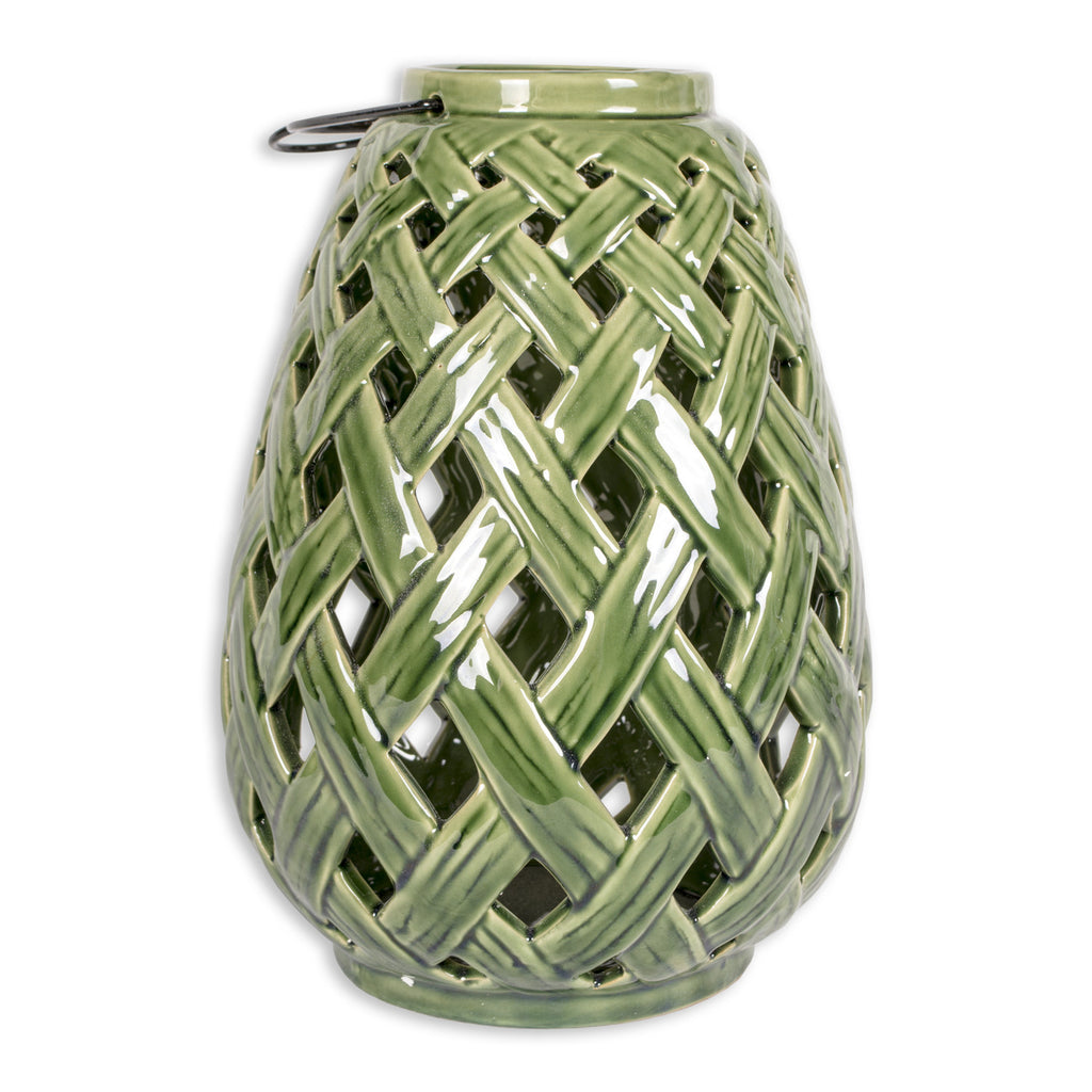 Bamboo Lattice Large Lantern - DII Design Imports