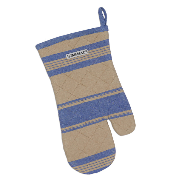 French Blue Stripe Oven Mitt - DII Design Imports
