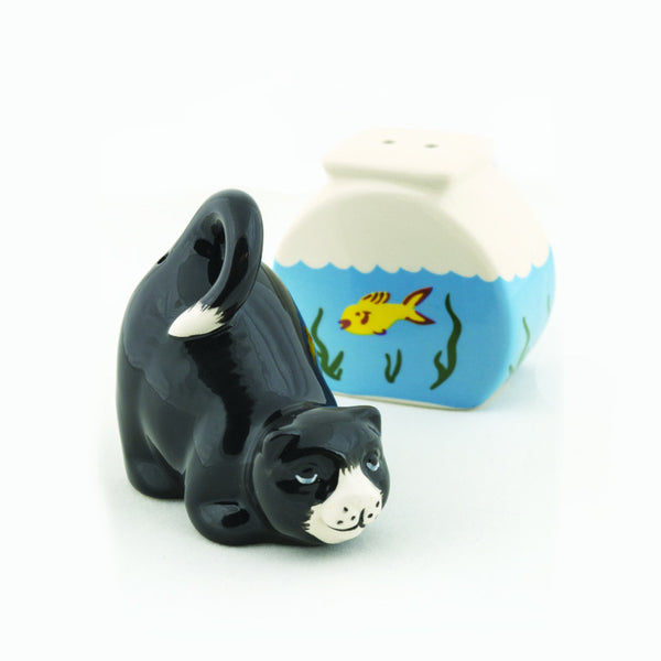 Cat Ceramic Salt & Pepper Shakers - DII Design Imports