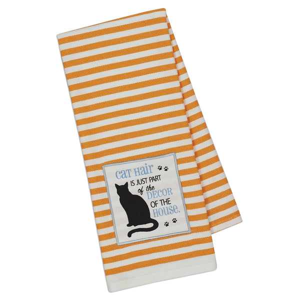 Wholesale - Cat Decor Embellished Dishtowel - DII Design Imports - 1