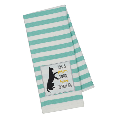 Wholesale - Cat Purrs Embellished Dishtowel - DII Design Imports - 1