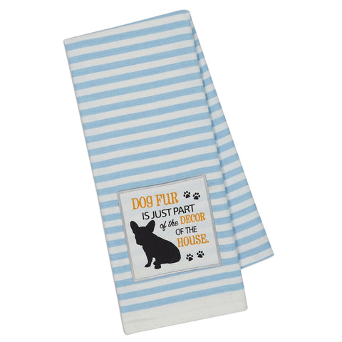Wholesale - Dog Decor Embellished Dishtowel - DII Design Imports - 1