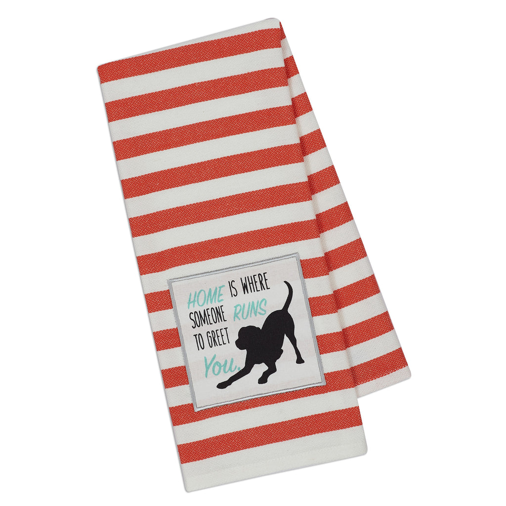 Wholesale - Dog Runs Embellished Dishtowel - DII Design Imports - 1