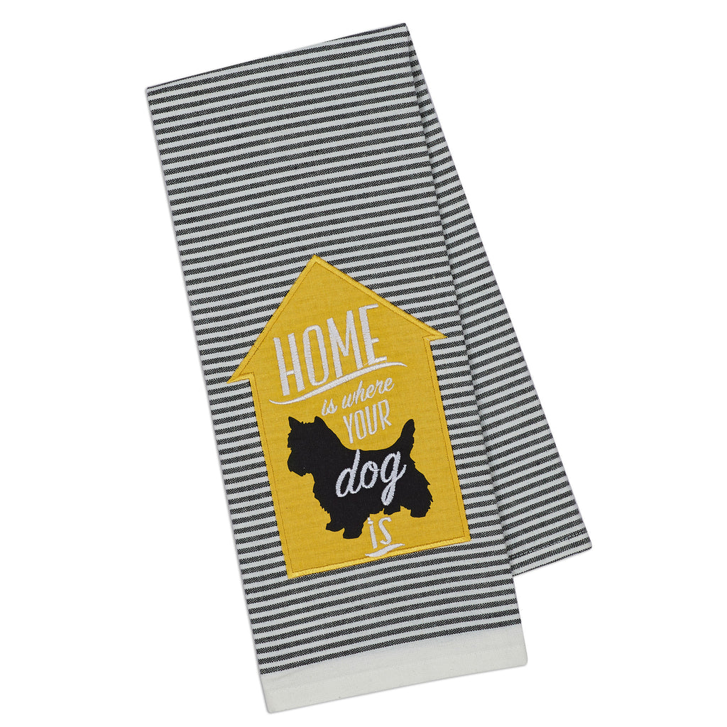 Dog Home Embellished Dishtowel - DII Design Imports