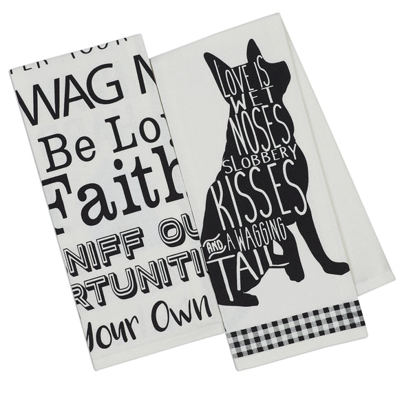 Dogs Printed Dishtowels - DII Design Imports