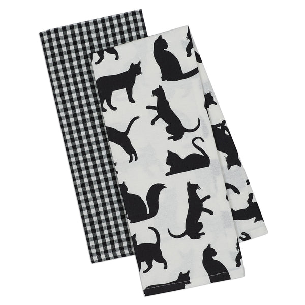 Wholesale - Cats Meow Dishtowel Set of 2 - DII Design Imports - 1
