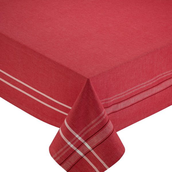 Wholesale - Tango Red French Chambray Tablecloth - DII Design Imports - 1