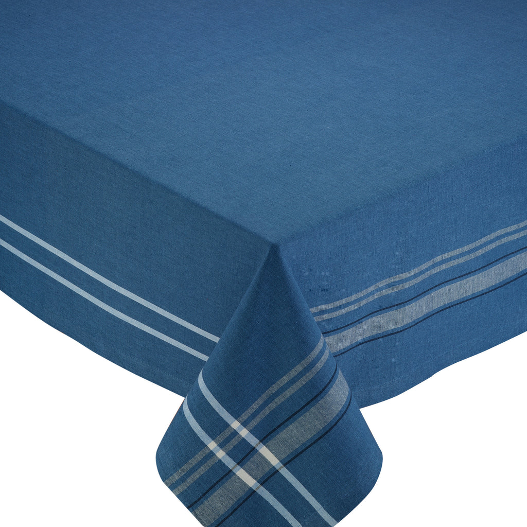 Wholesale - French Blue Chambray Tablecloth - DII Design Imports - 1