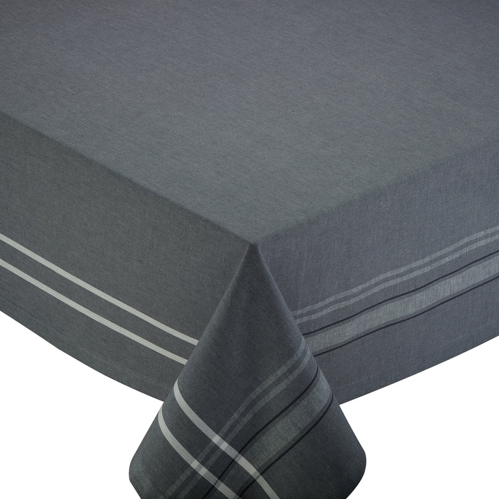 Gray French Chambray Tablecloth - DII Design Imports
