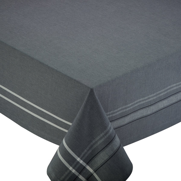 Wholesale - Gray French Chambray Tablecloth - DII Design Imports - 1