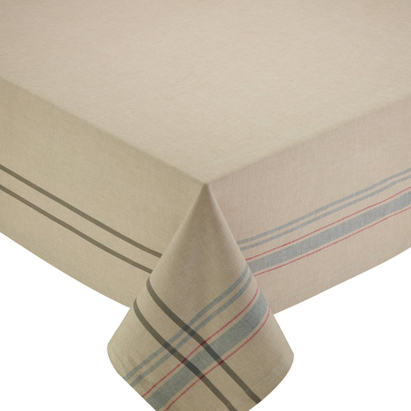 Wholesale - Natural French Stripe Tablecloth - DII Design Imports
