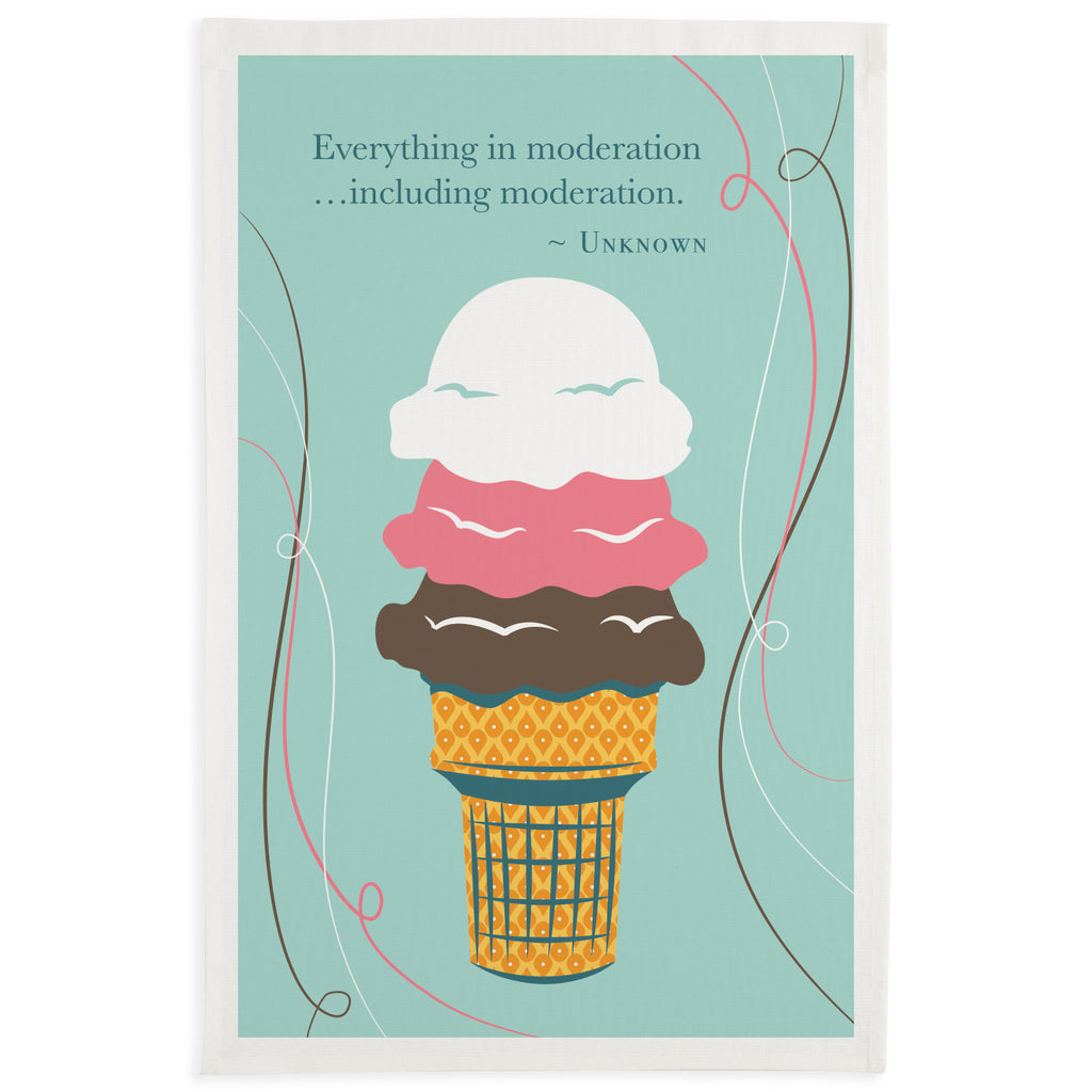 Wholesale - Moderation Ice Cream Printed Dishtowel - DII Design Imports